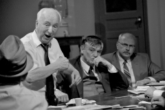 12 Angry Men, takes place at the Uxbridge Music Hall. Photo by Stuart Blower